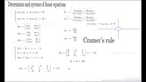 cramer s rule example of 3x3 system of equations