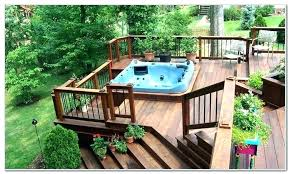 hot tub deck. Hot Tubs In Decks With Tub Deck Design Ideas Patio Designs Support Wood Spa 1 Framing To Around On I