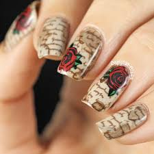 Decorative Nail Art Designs Top 100 Creative Newspaper Nails 59