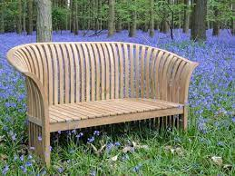 chesterton sustainable teak curved back