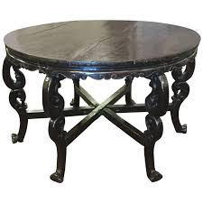 large 19th century chinese lacquered walnut round table for