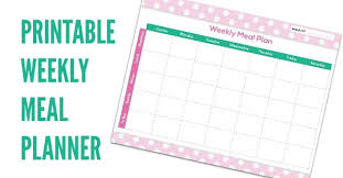 Free Meal Planning Chart Printable Coupon Closet