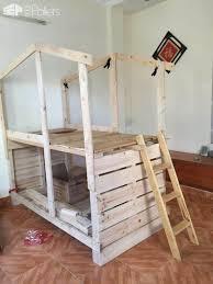 pallet kids bunk beds1