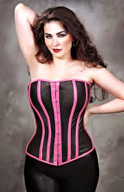 plus size leather corset dress