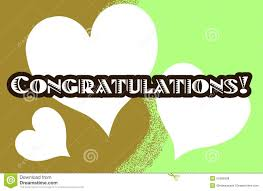 word of congratulations colorful greeting card with word congratulations stock vector