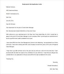 an application letter for employment  writing a good application letter  example job letter sample picture sample application letter for employment