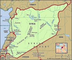 syrian desert physical map. Fine Syrian Syria Physical Features Map Includes Locator In Syrian Desert Map Y