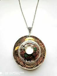 necklace orgone orgonite pendant flower