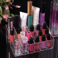 Clear Acrylic 24 Lipstick Holder Display Stand Cosmetic Organizer Makeup  Case: Amazon.co.uk: Garden & Outdoors