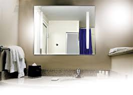 lighted wall mirror. image of: lighted makeup mirror wall mounted hardwired