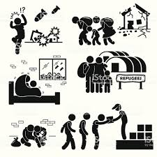難民避難者戦争 Pictogram クリップアート 1人のベクターアート素材や