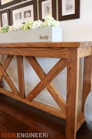 sofa table plans. DIY X-brace Console Table | Free Plans Rogue Engineer Sofa