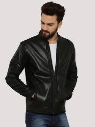 jack jones faux leather jacket with sleeve zips ping 1