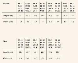 Women S Shoe Size Chart Brazil Size Chart Caboclo Brasil