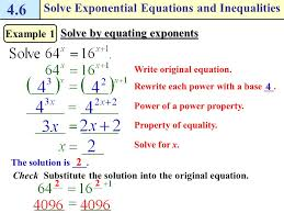 2 how do i solve exponential equations and inequalities