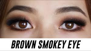 brown smokey eye makeup for small hooded monolid eyes tina yong