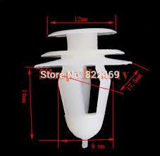 50pcs pack universal push interior car door panel trim card push clip fastener per fender