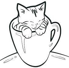 Fat Cat Coloring Pages At Free Printable Lazy Page Cattails