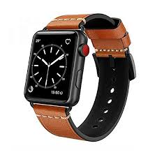 apple watch band 42mm leather swees iwatch genuine leather bands tan strap wristband with black