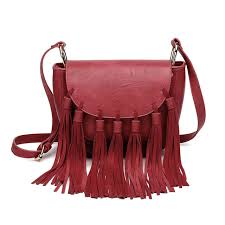 luxury designer high quality bag brands retro tassel saddle cross bag for women fringe red las hand bags leather handbags fashion personal