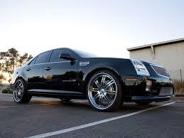 chromed caddilac   Cadillac STS-V has 22″x8.5″ (f) 22″x10″ (r ...