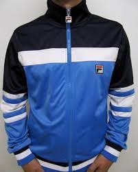 fila navy jacket. fila vintage - vilas court track top in ocean blue, navy \u0026 white / dyer borg mk1 jacket c