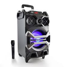 sound system. amazon.com: pyle 500 watt outdoor portable bluetooth karaoke speaker system - pa stereo with 8\ sound o