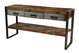wood table  engaging console table wood and metal  wood console