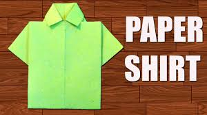 How To Make Shirt How To Make Paper Shirt Diy Origami Paper Crafts