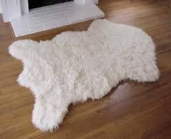 accessories faux bear skin rug decoration for living faux white bear skin rug