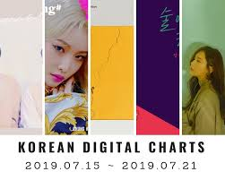 Music Chart Korean Digital Charts 29th Week 2019 2019 07