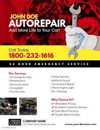 Auto Repair Flyer Auto Repair Service Flyer Template Car Repair Service
