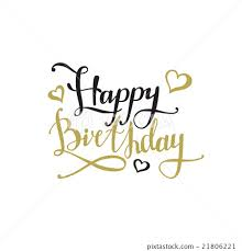 Vector Happy Birthday Design Concept Hand Stock Illustration