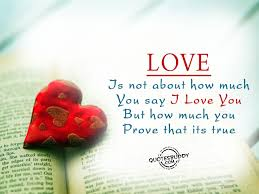 love is not about how much