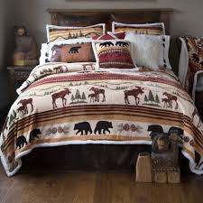 bedding black bear quilt bedding lodge style comforter sets moose flannel sheets queen grey rustic bed