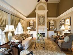 Elegant winter gold living room with vaulted ceiling decor ideas. Don't  love everything
