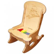 child s puzzle rocking chair