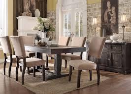 rustic dining set. 9 Piece Acme Eliana Rustic Dining Set O