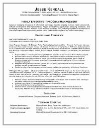 Program Manager Resume Gorgeous Technical Program Manager Resume Positive Project Management Resume