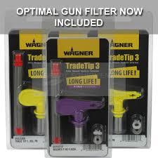 Wagner Spray Gun Tips Sizes Chart Wagner Trade Tip 3 Fine Finish Reversible Airless Spray Tip