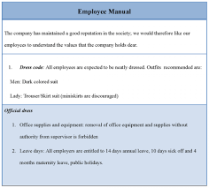 Free Employees Handbook 022 Employee Handbook Template Word Free Training Manuallate In