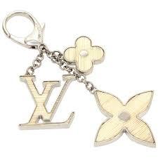 louis vuitton keychain. louis vuitton fleur d\u0027epi white x silver tone key chain / bag charm 1 keychain l