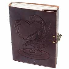 leather journals large vintage heart embossed leather journal notebook