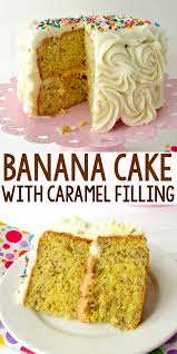 Banana Cake with Caramel Filling Crazy for Crust