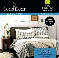 cuddl duds comforter flannel sheet set e lodge cabin sheets new king cotton heavyweight gray