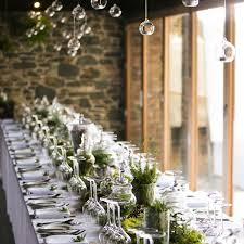 table wedding decorations. with adequate room for table settings, glassware, sharing platters and all decorations such as flowers, wedding