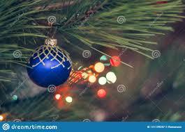 Do All Christmas Lights Blink Closeup Of Christmas Ball From Christmas Tree Stock Image