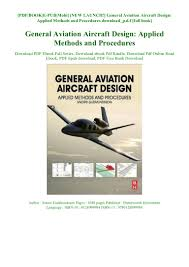 Aircraft Design Pdf Free Download New Launch General Aviation Aircraft Design Applied