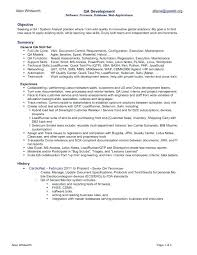Sample Resume For Quality Analyst Topshoppingnetwork Com
