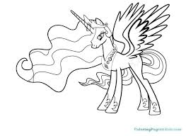 My Little Pony Coloring Pages Princess Celestia And Luna Coloring My
